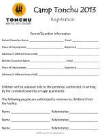 camp tonchu 20131