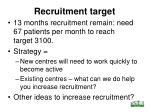 recruitment target