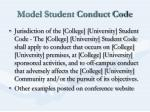 model student conduct code