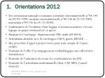 orientations 2012