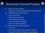government sourced property