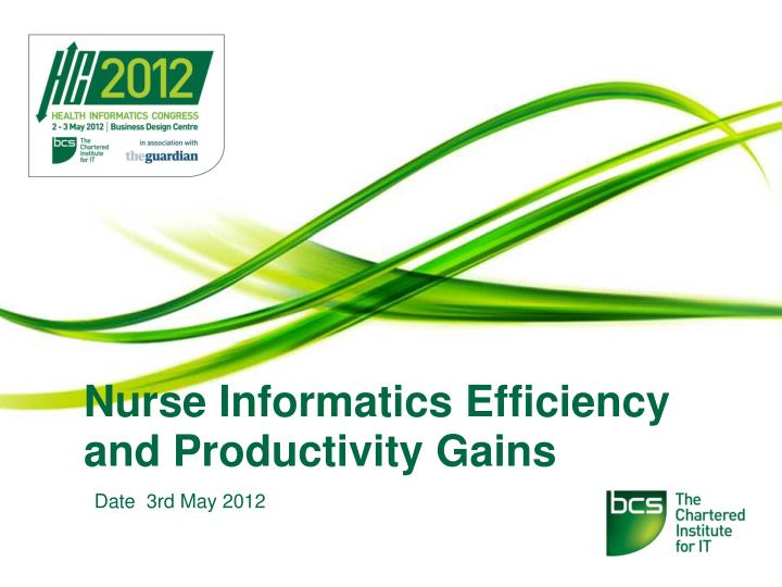 nurse informatics efficiency and productivity gains n.