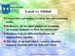 local vs global