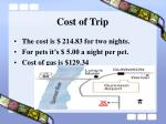 cost of trip