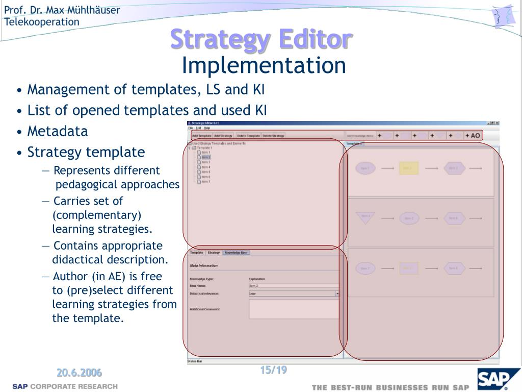 PPT - Template Approach For Adaptive Learning Strategies