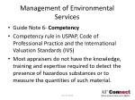management of environmental services16