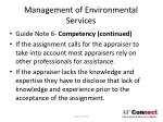management of environmental services17