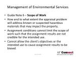 management of environmental services18