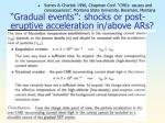 gradual events shocks or post eruptive acceleration in above ars