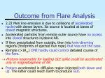 outcome from flare analysis