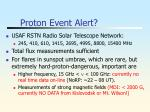 proton event alert