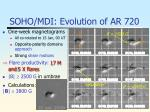 soho mdi evolution of ar 720