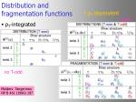 distribution and fragmentation functions