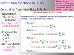 distribution functions in sidis
