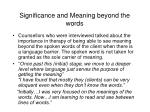 significance and meaning beyond the words