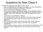 questions for next class ii