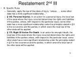 restatement 2 nd iii