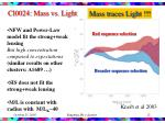 cl0024 mass vs light