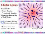 cluster lenses
