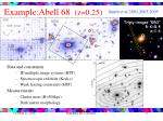 example abell 68 z 0 25