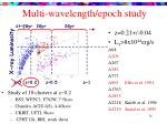 multi wavelength epoch study