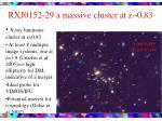 rxj0152 29 a massive cluster at z 0 83
