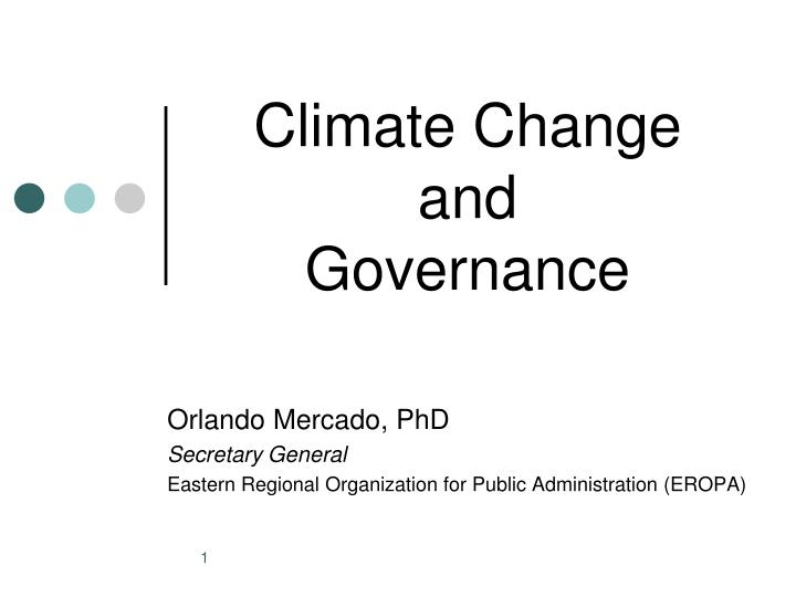 climate change and governance n.
