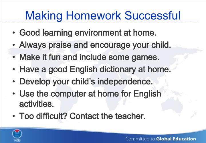 Making Homework Successful