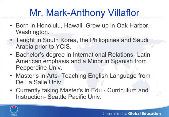 Mr. Mark-Anthony Villaflor