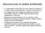 soluzione per la catalisi ambientale