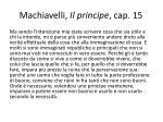 machiavelli il principe cap 15
