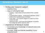 generating a research idea 2
