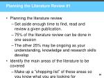 planning the literature review 1