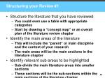 structuring your review 1
