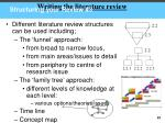 structuring your review 3
