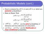 probabilistic models cont