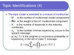 topic identifications 4