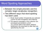 word spotting approaches