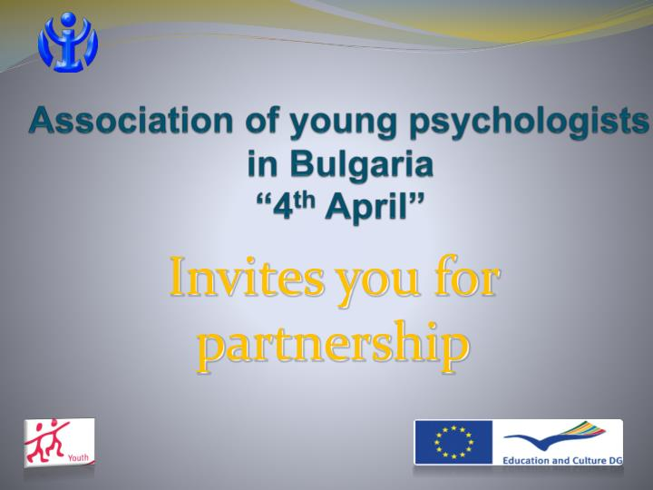 association of young psychologists in bulgaria 4 th april n.