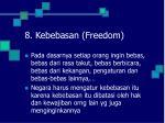 8 kebebasan freedom