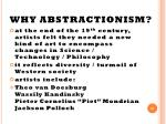 why abstractionism