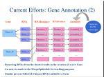 current efforts gene annotation 2