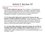 article i section 10
