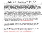 article i section 2 cl 3 5