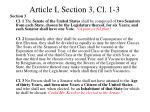 article i section 3 cl 1 3