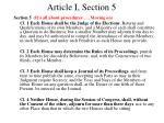 article i section 5