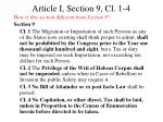 article i section 9 cl 1 4