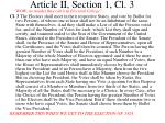 article ii section 1 cl 3
