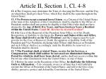 article ii section 1 cl 4 8