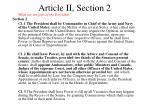 article ii section 2